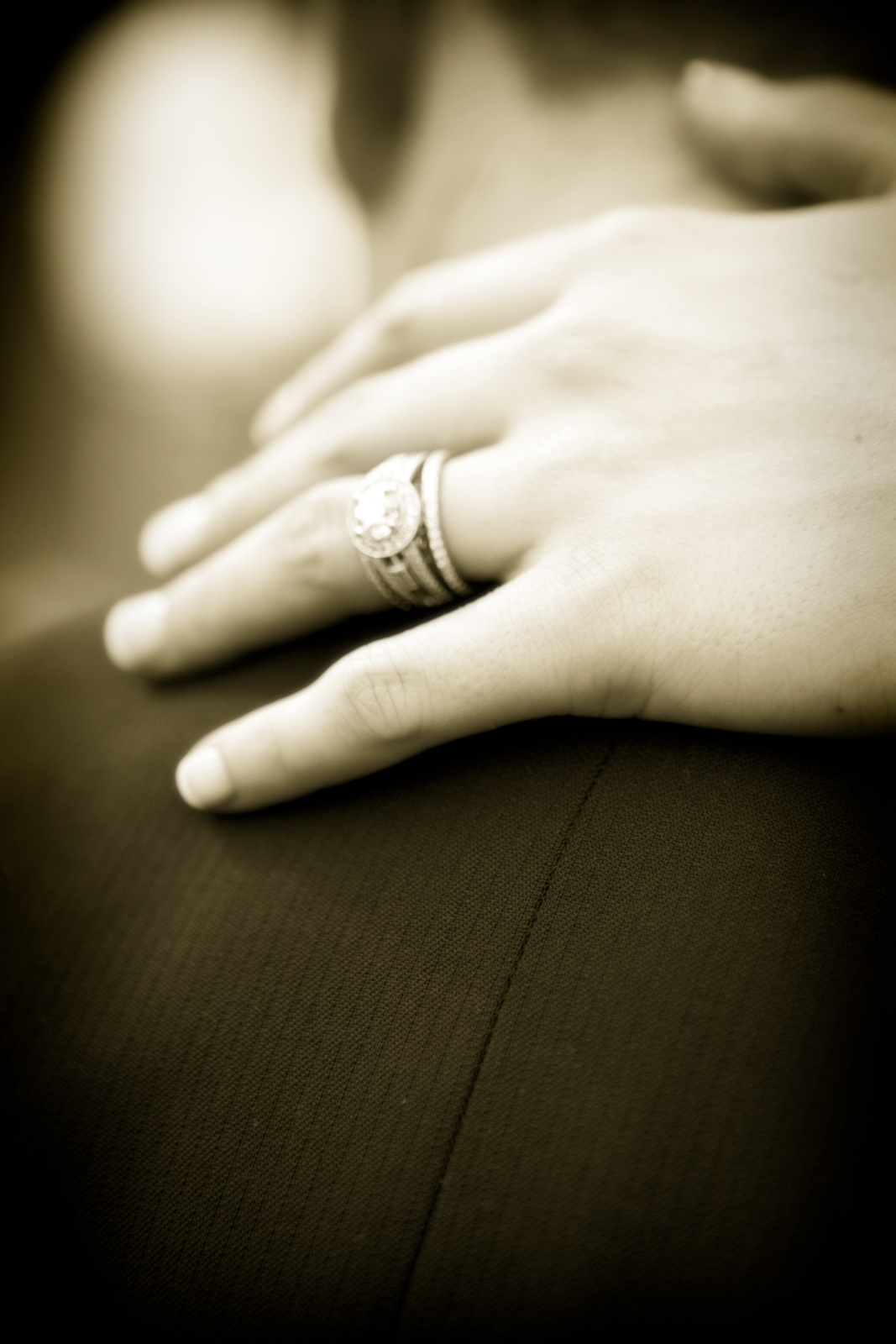 Lovely ring and hand at the hermosa inn, arizona
